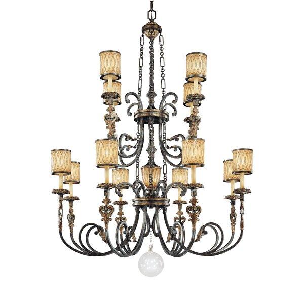 Terraza Villa 13 - Light Shaded Tiered Chandelier By Metropolitan By Minka