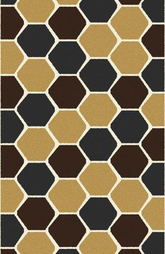 Bontrager Modern Dark Brown Area Rug by Ebern Designs