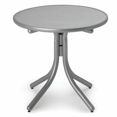 Embossed Aluminum 30 Round Dining Table by Telescope Casual