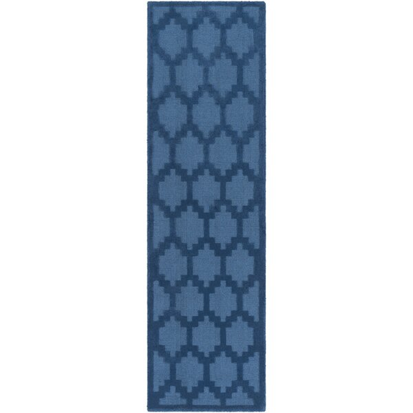 Bracey Hand-Loomed Blue Area Rug by Wrought Studio