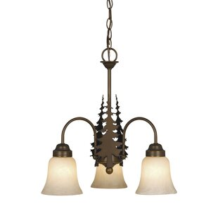 Inexpensive Heger 3-Light Shaded Chandelier By Loon Peak