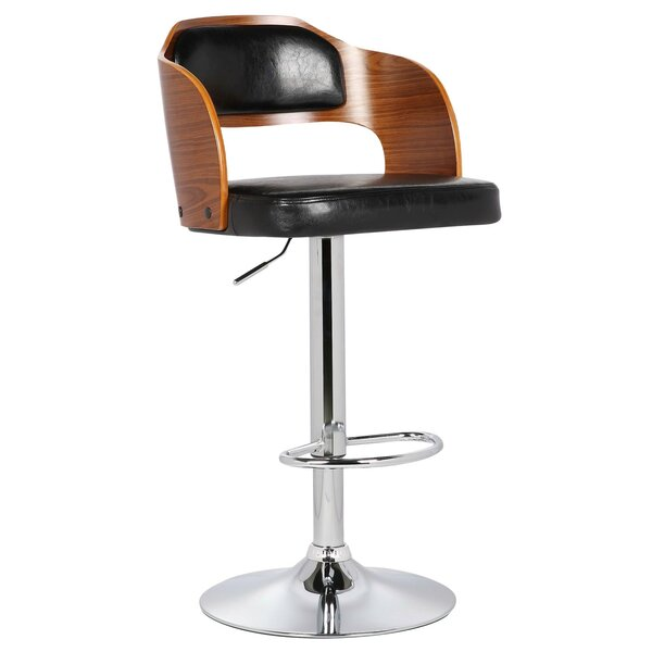 Fleur Adjustable Height Swivel Bar Stool by Porthos Home