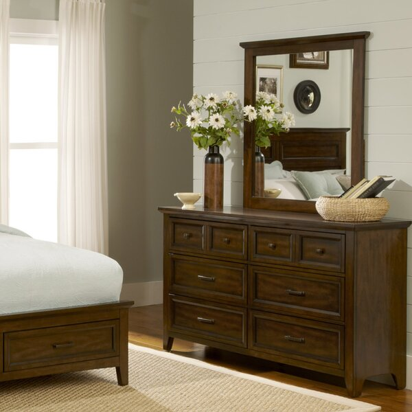 Mortemart 6 Drawer Dresser with Mirror by August Grove August Grove