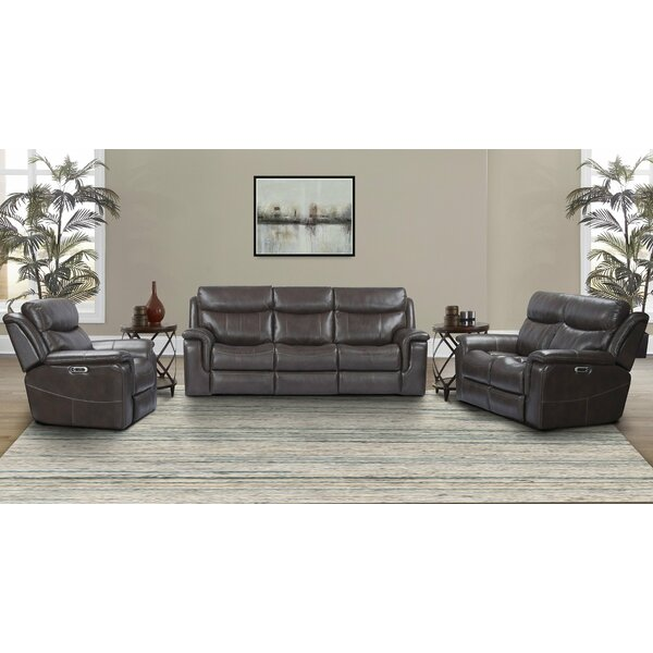 Gillsville Leather Reclining Configurable Living Room Set By Red Barrel Studio