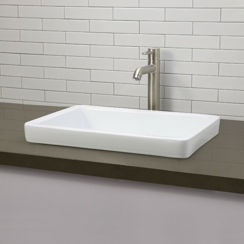 Bathroom Sinks Sale decolav classically redefined semi rectangular vessel bathroom
