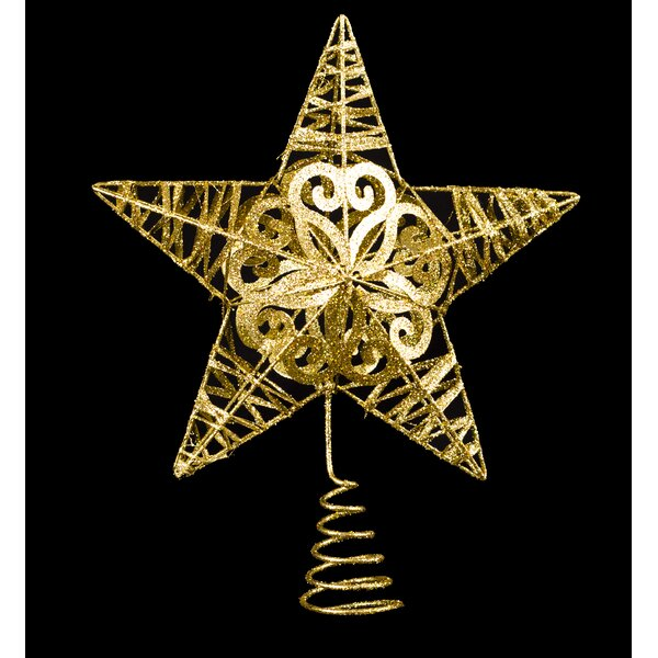 Metal Glittered Star Tree Topper (Set of 2) by Willa Arlo Interiors