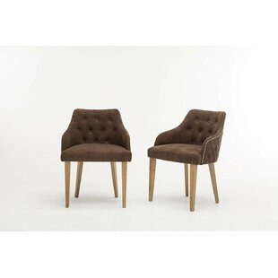 Tilley Tufted Nailed Microfiber Armchair (Set of 2)