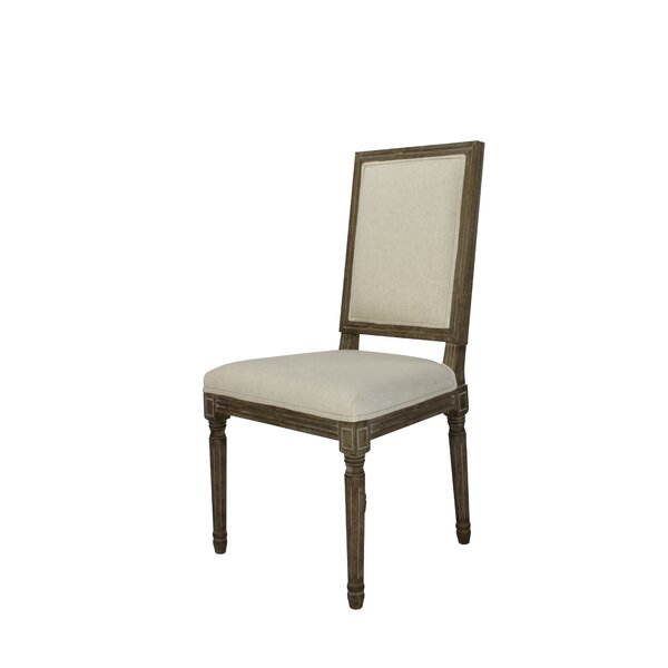 Auclair Weathered Upholstered Dining Chair (Set of 2) by One Allium Way One Allium Way