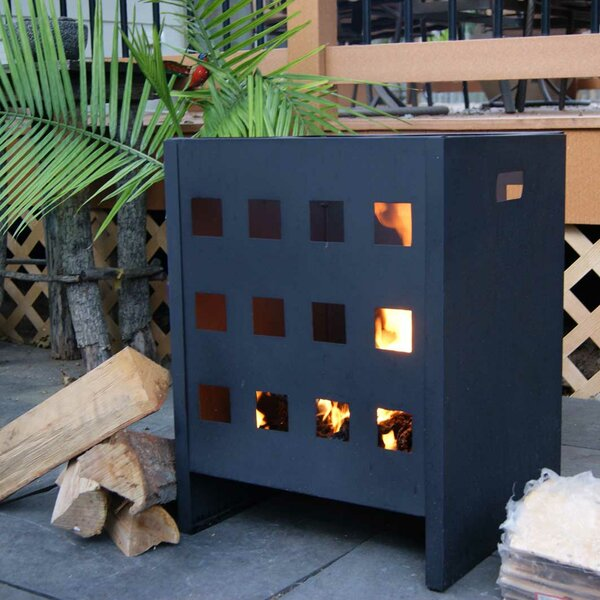 On-the-Go Steel Wood Burning Fire Pit by Deeco