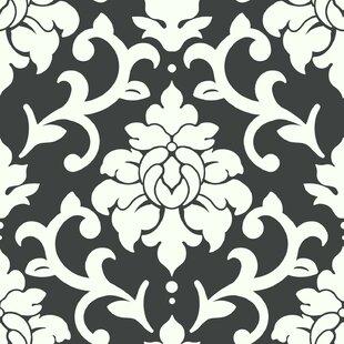Milford 16 5 L X 20 5 W Damask Peel And Stick Wallpaper Roll