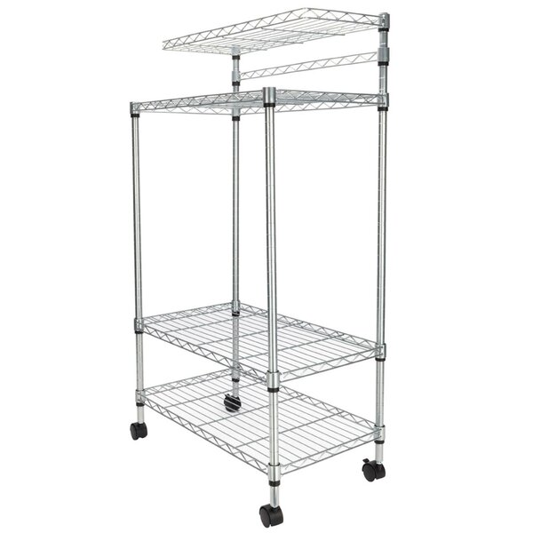 Elderton 4 Tier Storage Rack Microwave Cart by Rebrilliant