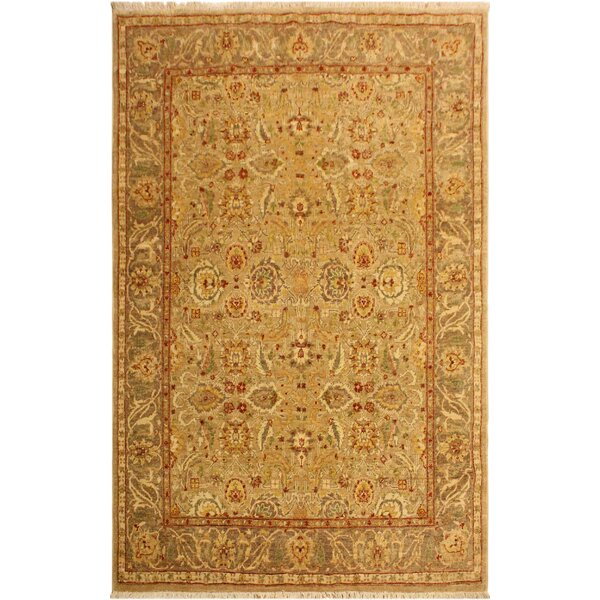 One-of-a-Kind Bodrum Hand-Knotted Wool Tan/Brown Area Rug by Canora Grey