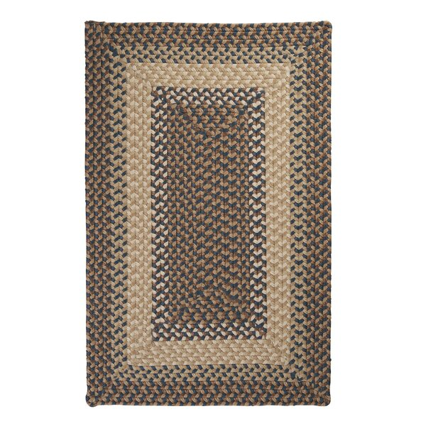 Tiburon Stone & Blue Braided Indoor/Outdoor Area Rug by Colonial Mills