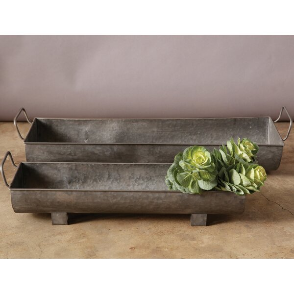 Wabansia 2-Piece Metal Planter Box Set by Gracie Oaks