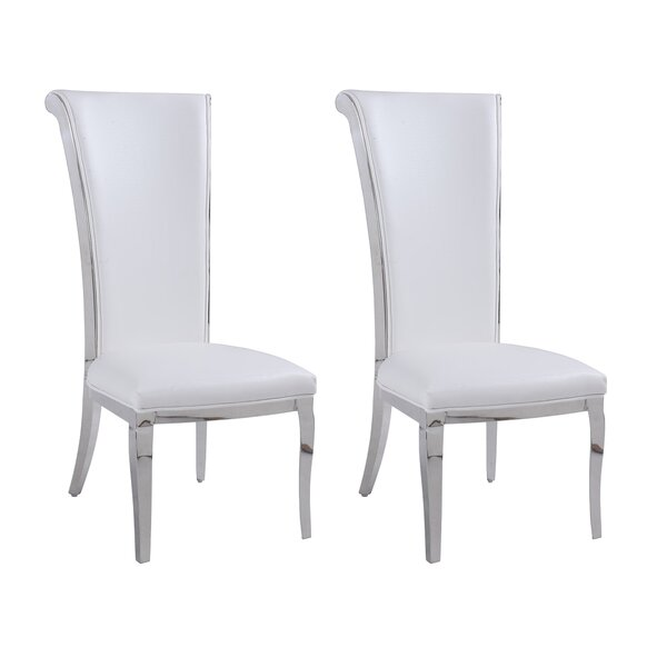 Joy Rolled Back Upholstered Dining Chair (Set Of 2) By Rosdorf Park