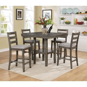 Charming Tahoe 5 Piece Counter Height Dining Set