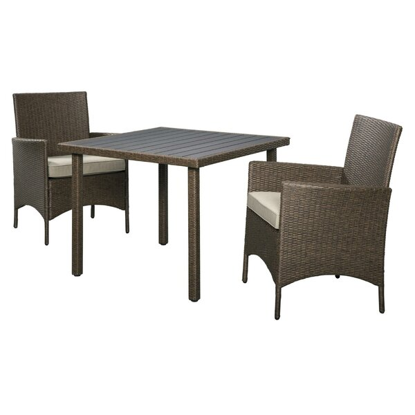 Olancha 3 Piece Bistro Set with Cushions by Latitude Run