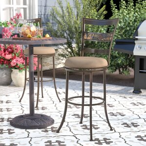 Hoytville 30  Swivel Indoor/Outdoor Bar Stool : patio bar stools swivel - islam-shia.org