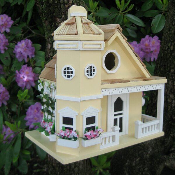 Fledgling Series Flower Pot Cottage 9 in x 10 in x 9 in Birdhouse by Home Bazaar