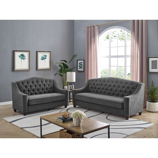 Moberg Chesterfield 2 Piece Living Room Set by Canora Grey Canora Grey