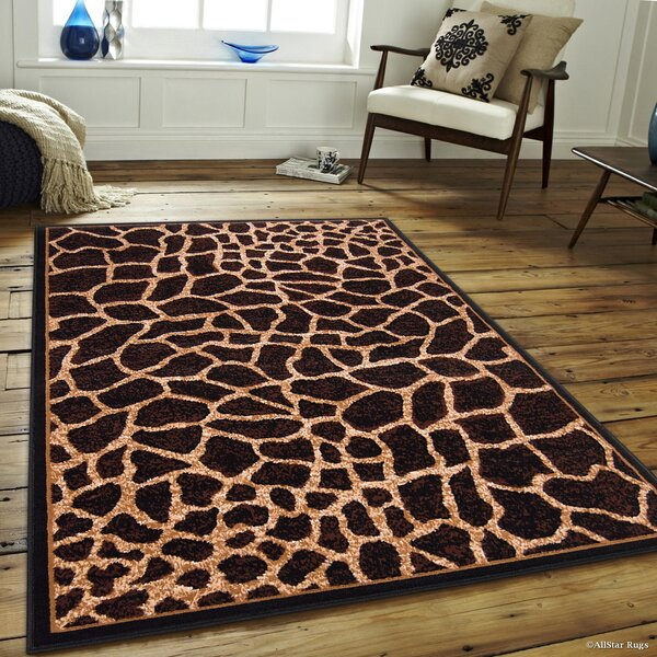 Hand-Tufted Brown/Beige Area Rug by AllStar Rugs