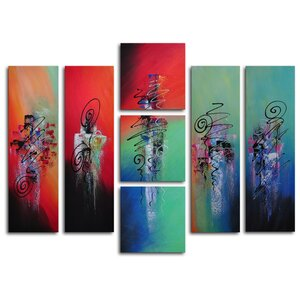 Hanging Lanterns 7 Piece Painting on Canvas Set by My Art Outlet