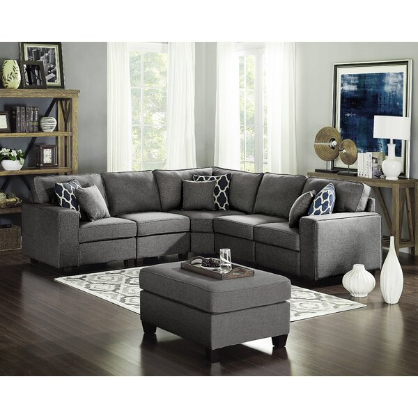 Best #1 Laureen Modular Sectional With Ottoman By Ivy Bronx 2019 Online