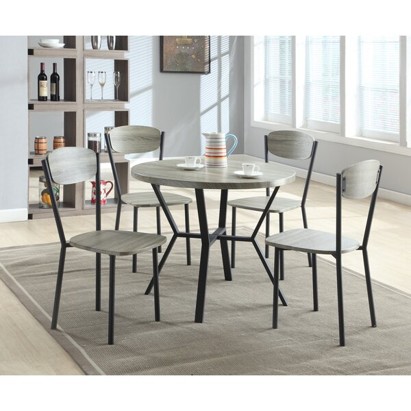 Felicia 5 Piece Dining Set by Millwood Pines Millwood Pines