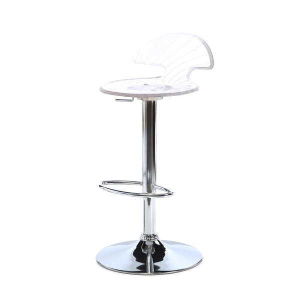 Blaisdell Adjustable Height Swivel Bar Stool by Latitude Run