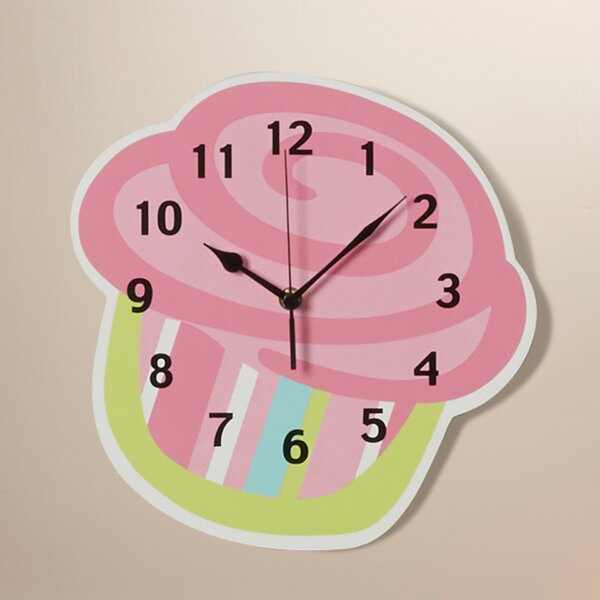 Cupcake Wall Clock by Trend Lab