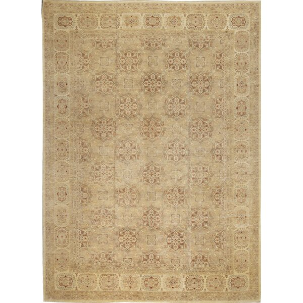 One-of-a-Kind Ziegler 2000 Octogon Spread Hand-Knotted Wool Brown/Beige Area Rug by Bokara Rug Co., Inc.