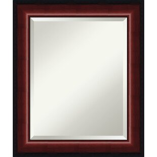 Darby Home Co Rectangle Mahogany Wall Mirror