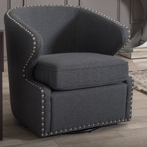 Microscopium Upholstered Swivel Wing back Barrel Chair by Latitude Run