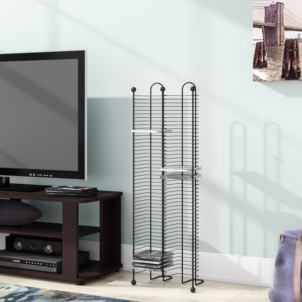 100 CD Multimedia Nestable Wire Rack By Symple Stuff