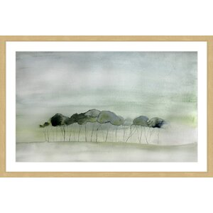 'Quiet' by Christine Lindstrom Framed Painting Print by Marmont Hill