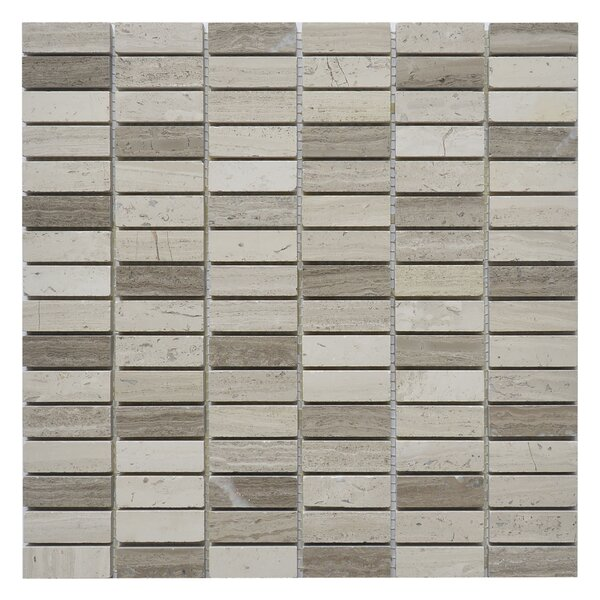 Nevada Willow 0.63 x 2 Marble Mosaic Tile in White/Gray by Matrix Stone USA