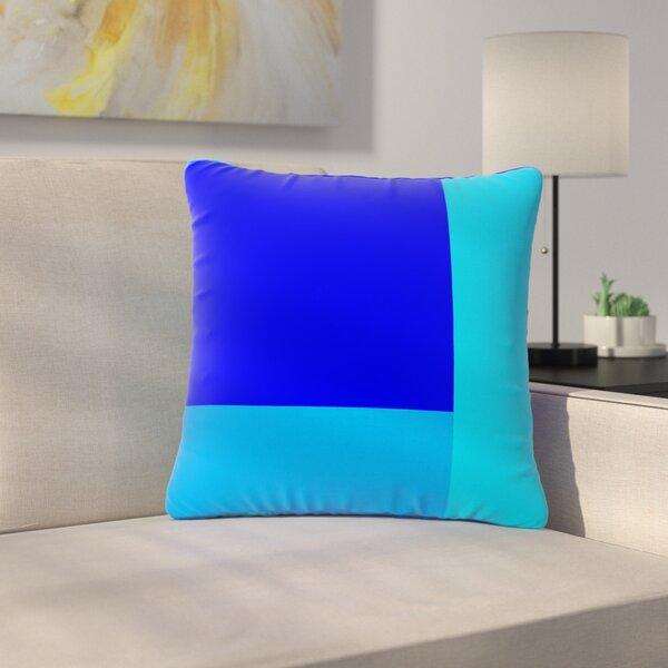 Trebam Bluz V.3 Geometric Outdoor Throw Pillow by East Urban Home