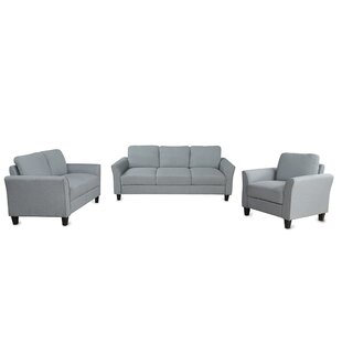 Corden 3 Piece Standard Living Room Set by Red Barrel Studio®