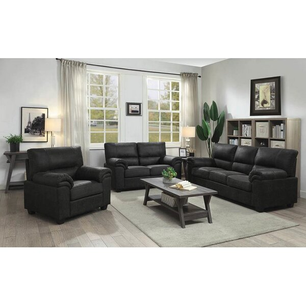 Mulkey 3 Piece Living Room Set by Winston Porter