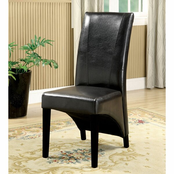 Krusa Upholstered Parsons Chair In Black (Set Of 2) By Red Barrel Studio