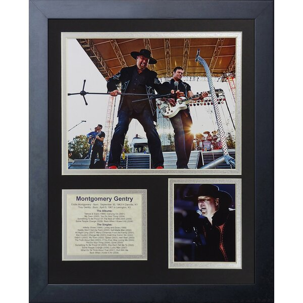 Montgomery Gentry Framed Memorabilia by Legends Never Die