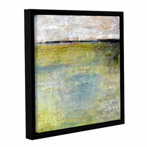 'Green Marsh' by Michelle Rivera Framed Painting Print on Wrapped Canvas by ArtWall