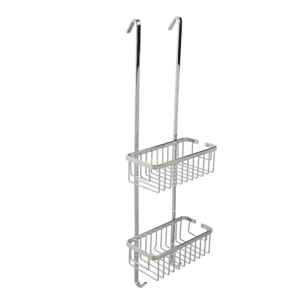Ellenberger Aluminum 2-Tier Hook Over Basket by Rebrilliant
