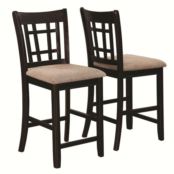 Redmont Armless Counter Height Solid Wood Dining Chair (Set of 2) by Charlton Home