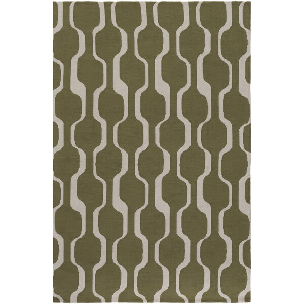 Zaire Olive Green Area Rug by George Oliver