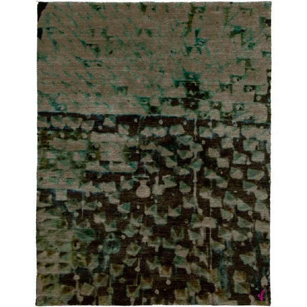 One-of-a-Kind Whittlesey Hand-Knotted Traditional Style Green 9' x 12' Wool Area Rug
