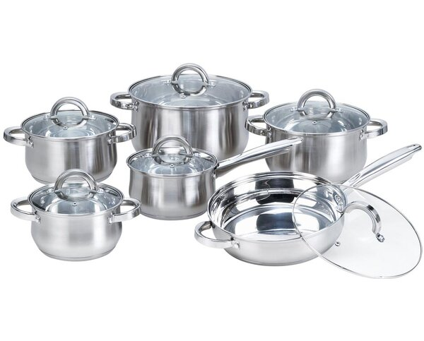 Heim Concepts 12-Piece Stainless Steel Cookware Set by Best Desu, Inc.