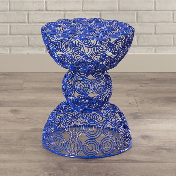 Vanbuskirk Iron Wire Accent Stool by Wrought Studio
