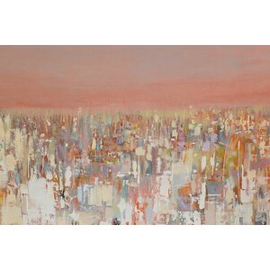 Urbanities Series: Cityscape Painting Print on Wrapped Canvas by East Urban Home