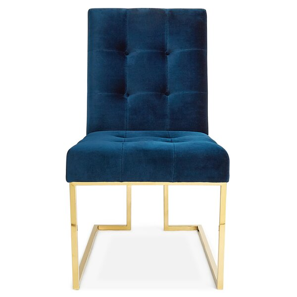 Goldfinger Tufted Upholstered Side Chair by Jonathan Adler Jonathan Adler